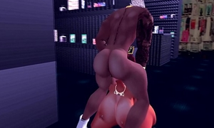 Explicit ma receives drilled by monster dark penis in store