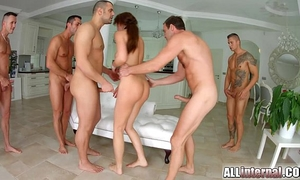 Tina kay anal group sex creampie on all inner part two