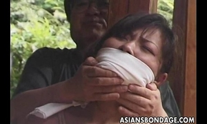 Japanese slavery episode rope and fastened