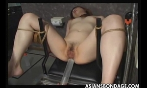 Japanese thrall acquires fur pie filled by cum