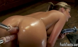 Big booty blond anal and slit fucking sextoy