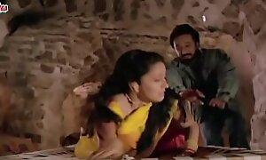 Madhuri Forced In Yellow Saree
