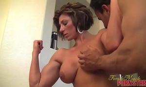 Female bodybuilder female-dominator amazon acquire worshiped