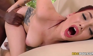 Busty amber ivy copulates a bbc on casting