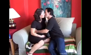 Super cute chunky brunette hair can't live without engulfing wang and eating cum